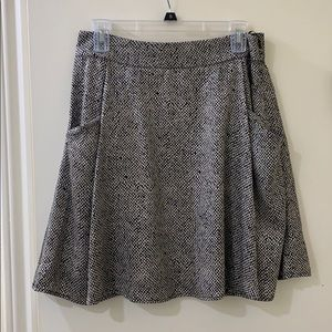 Black and Cream Polyster Skirt, Dry Clean Only